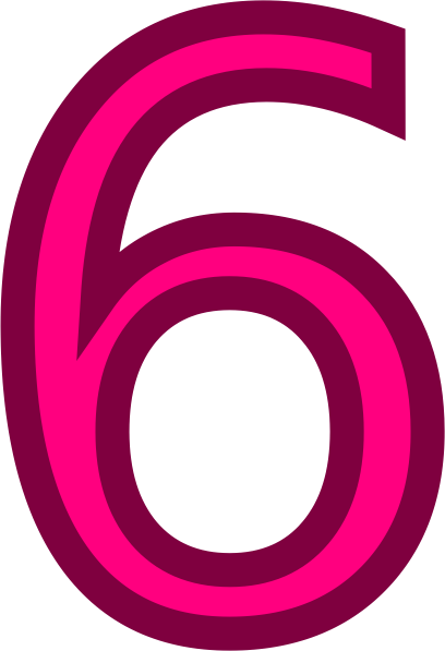 Number 6 Clipart Png.