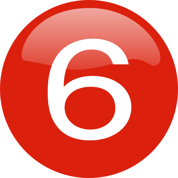 Number 6 clipart red, Number 6 red Transparent FREE for.