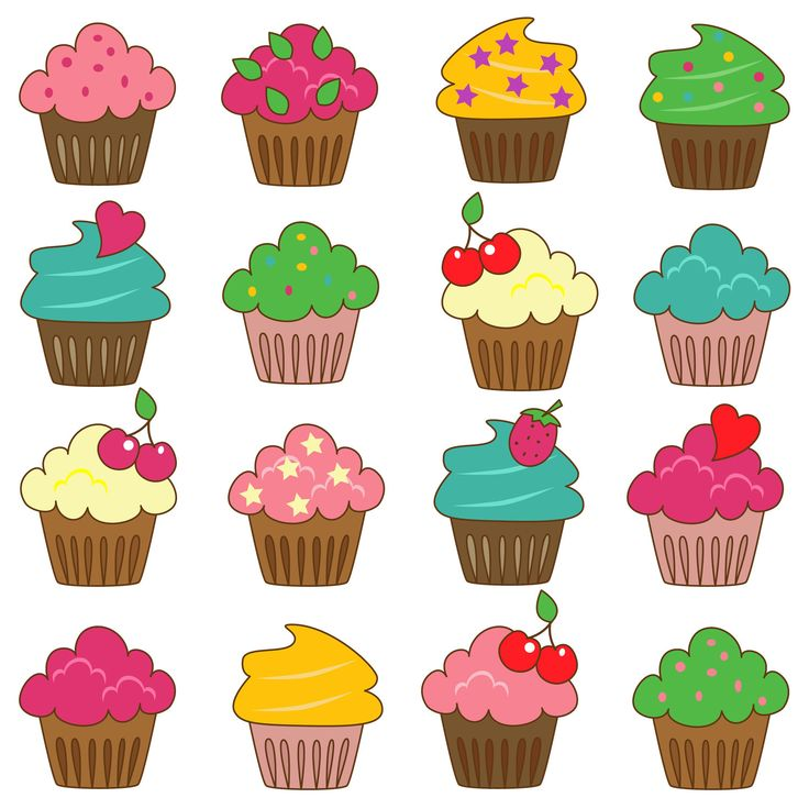 Birthday cupcakes clipart 6 » Clipart Station.