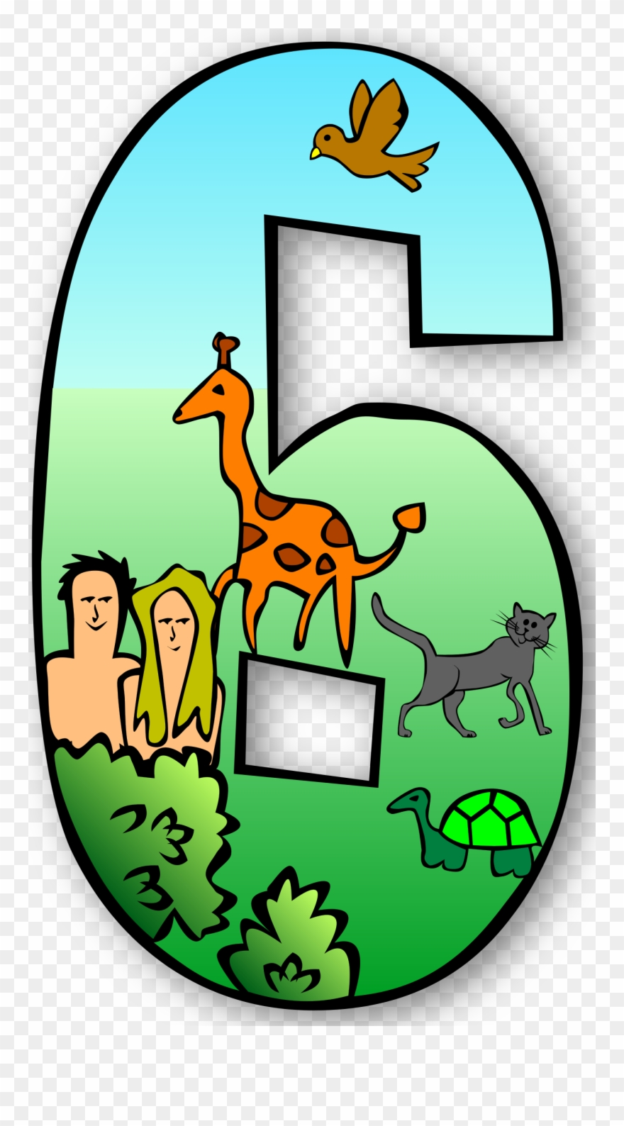 Free Clipart Creation Days Numbers Gerald G.