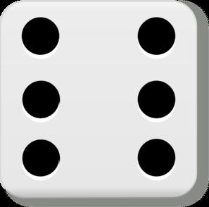 6 dice clipart.