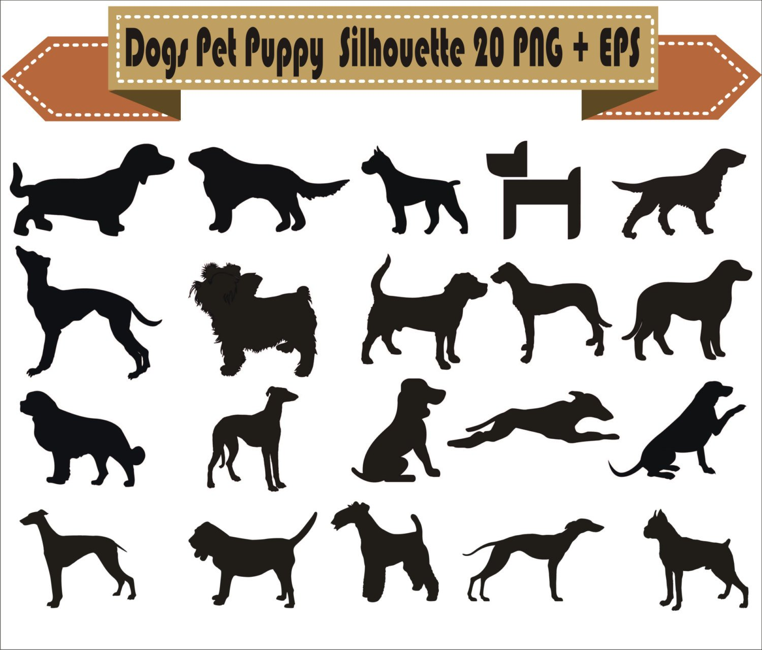 Pack of dogs clipart 6 » Clipart Station.