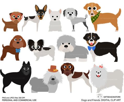 Dogs and Friends clip art part 6 for Personal and Commercial.