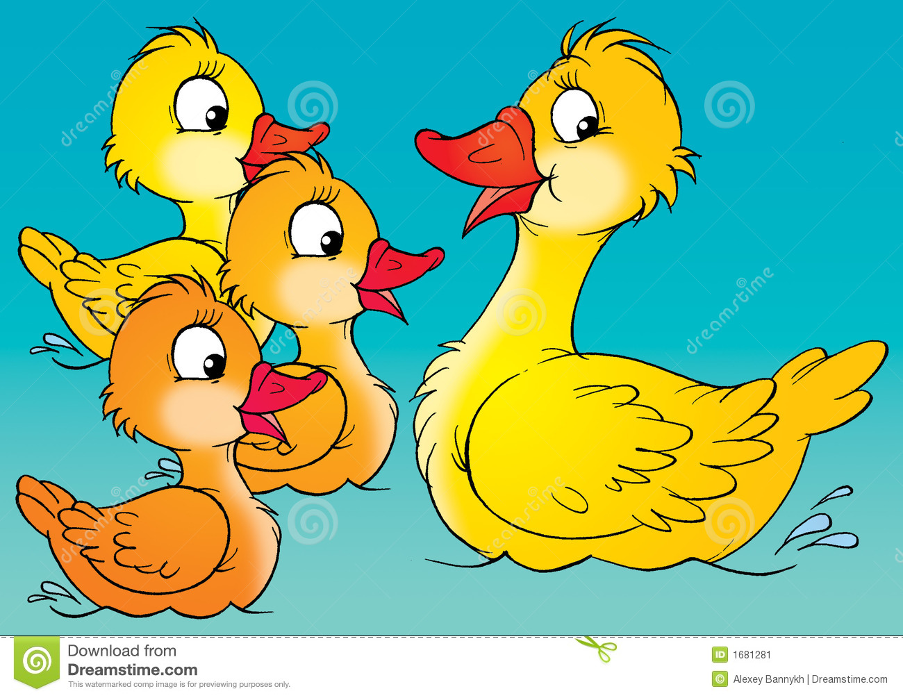 Duck and duckling clipart 6 » Clipart Station.