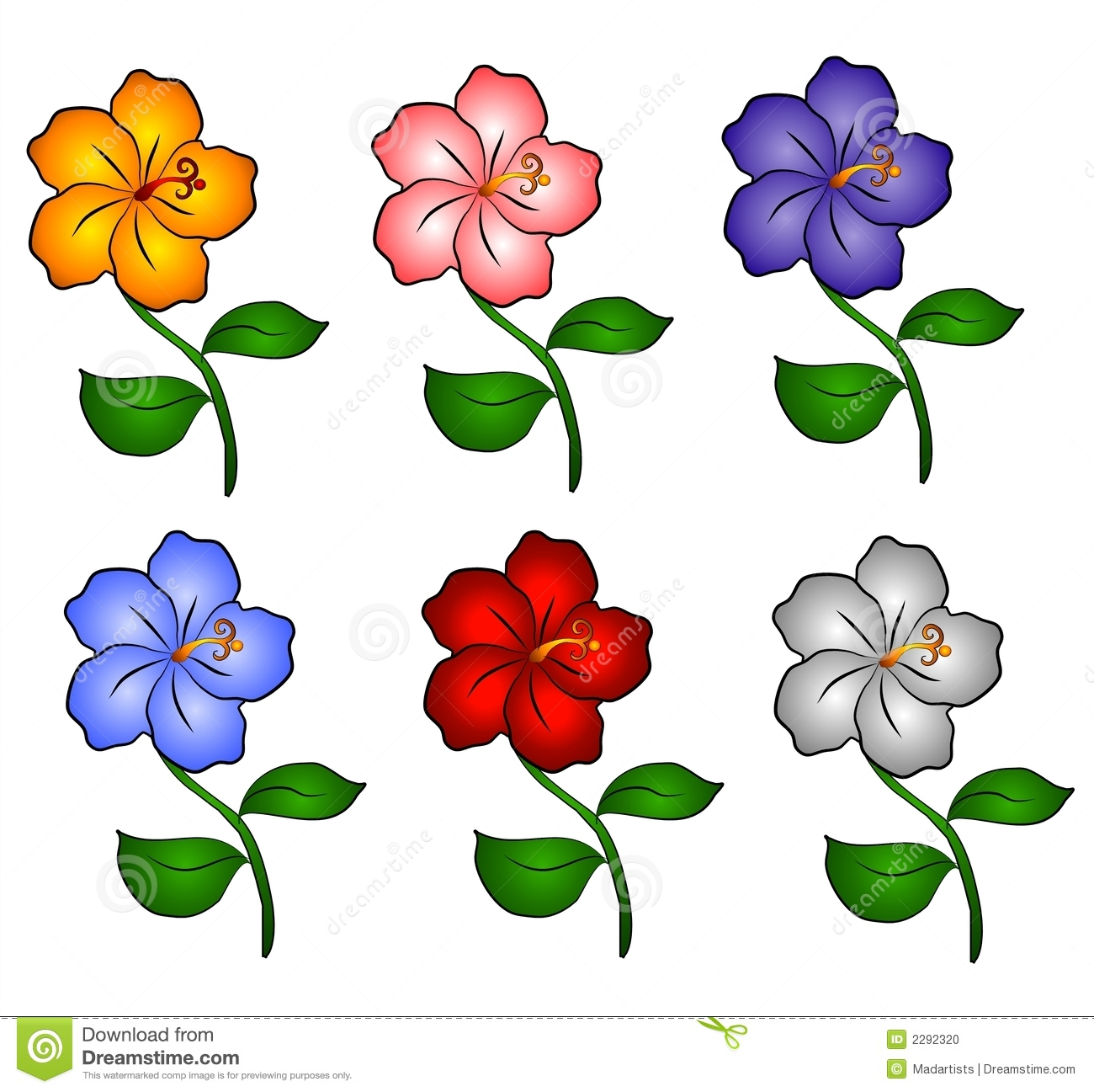 6 clipart flower hawaiin Transparent pictures on F.