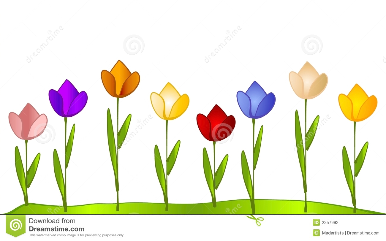 Row of flowers clipart 6 » Clipart Station.