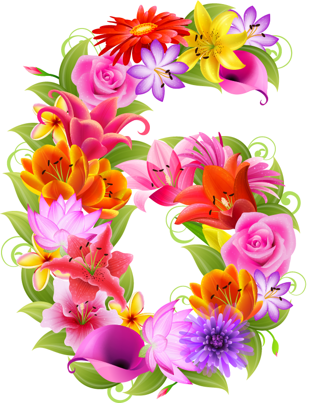 March clipart 6 flower, March 6 flower Transparent FREE for.