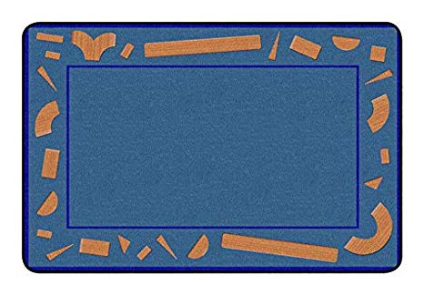 Childcraft Building Blocks Carpet, 4 x 6 Feet, Rectangle.