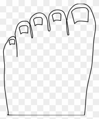Free PNG Toes Clipart Black And White Clip Art Download.