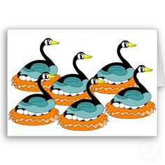 6 geese a laying clipart 1 » Clipart Portal.