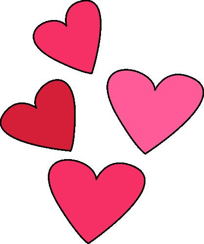 Valentines Day Hearts Clip Art Valentine Week 6 2.