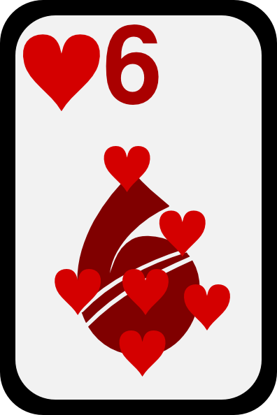 Six Of Hearts Clip Art at Clker.com.