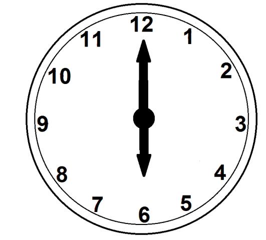 Six O\'clock Clipart.