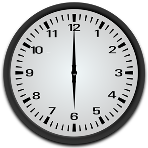 6 o\'clock clipart, cliparts of 6 o\'clock free download (wmf.