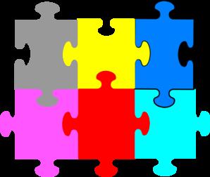 Jigsaw Puzzle 6 Pieces Clip Art at Clker.com.