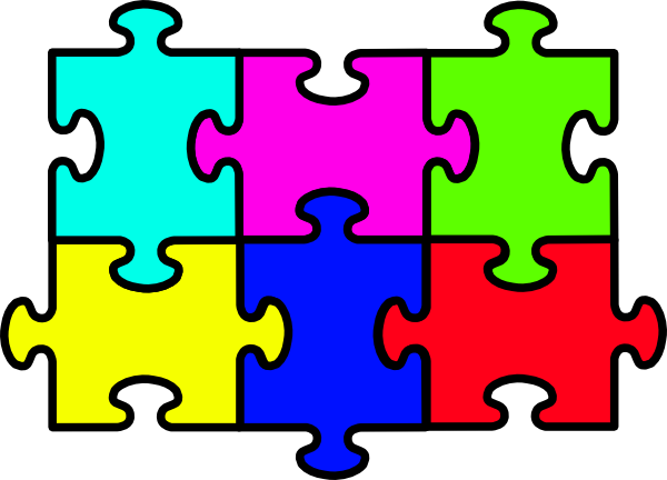 Puzzle Six Pieces Clip Art at Clker.com.