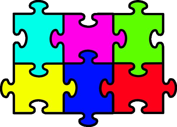 Puzzle Six Pieces Clip Art at Clker.com.