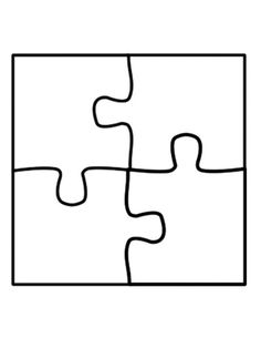 Jigsaw Puzzle Template 6 Pieces.