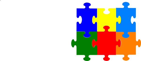 Jigsaw Puzzle 6 Pieces Clip Art at Clker.com.