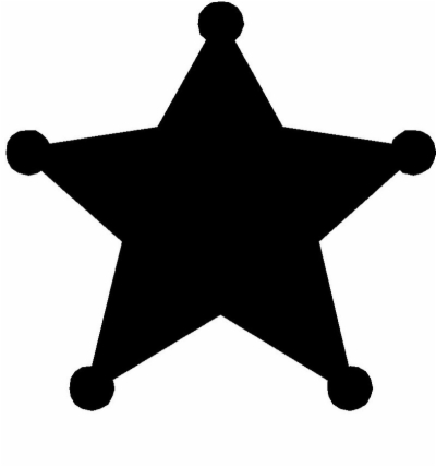 sheriff star , Free clipart download.
