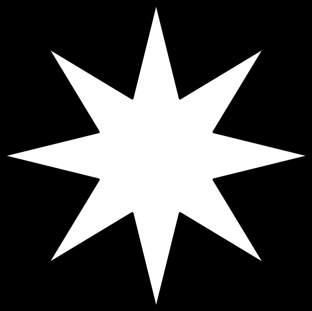 HD 8 Point Star Black Void.