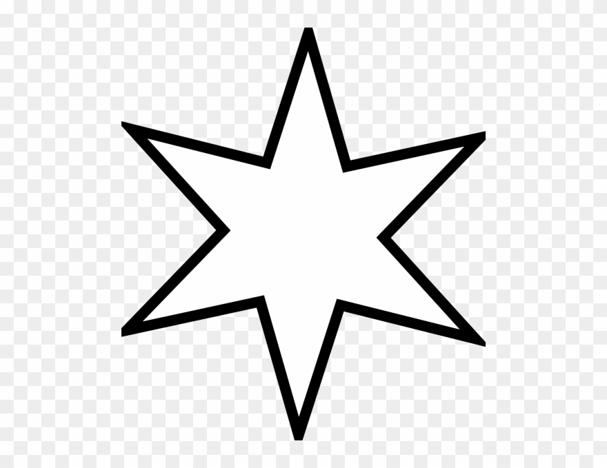 Large Six Sided Star Clip Art At Clker.
