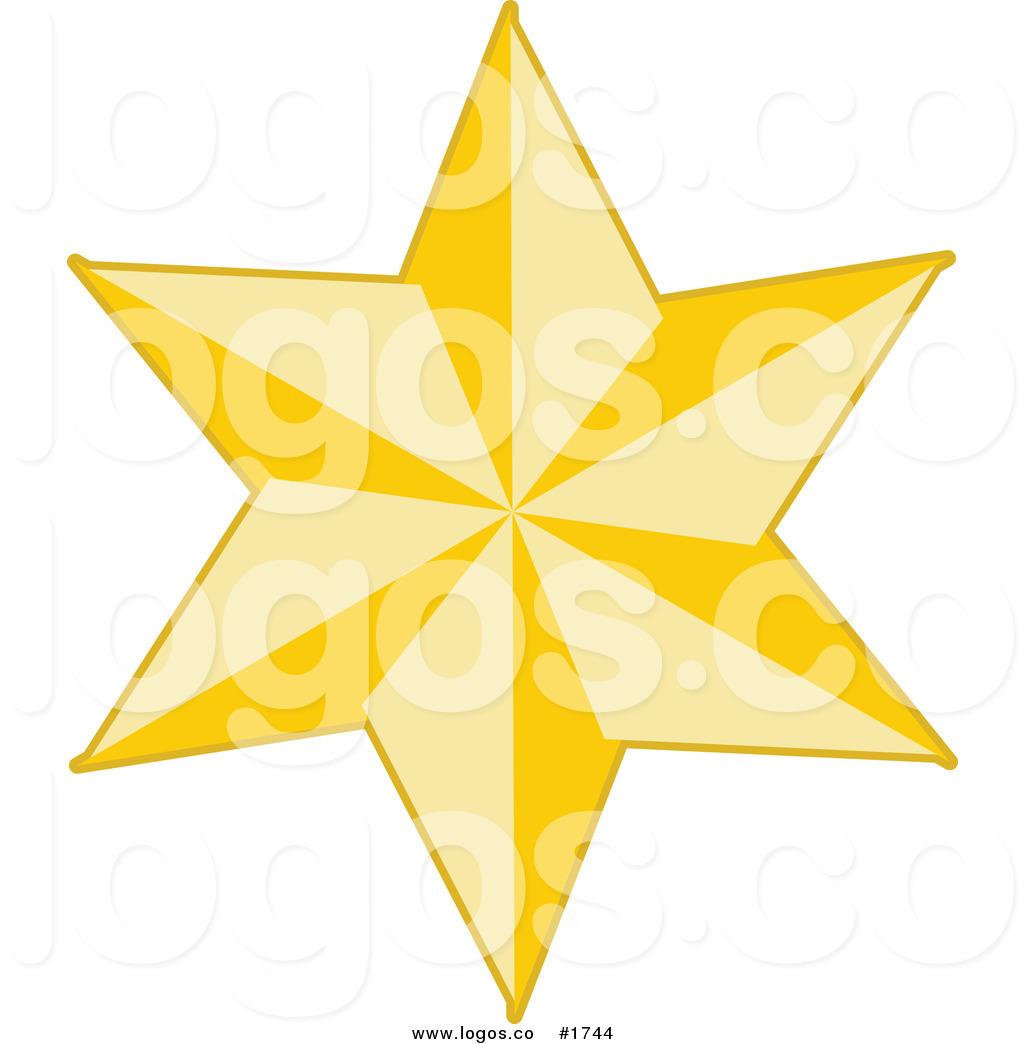6 Point Star Clipart.
