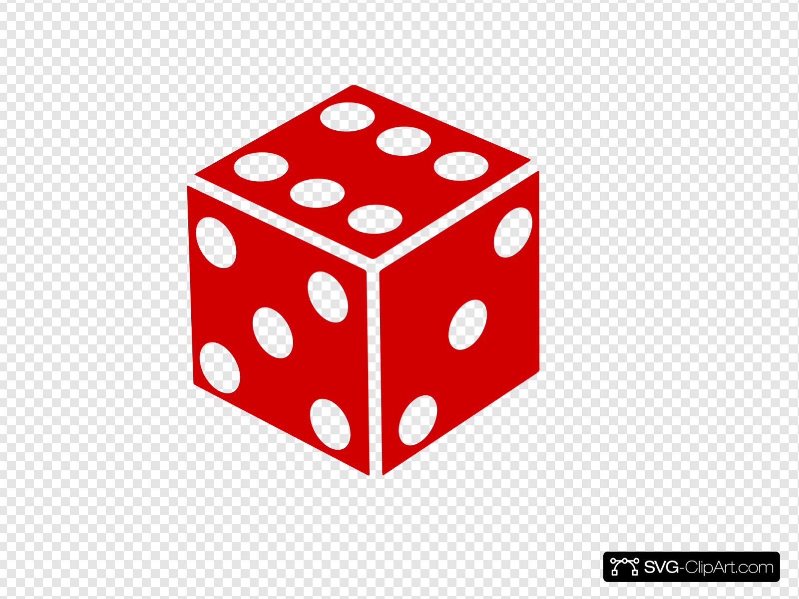 Six Sided Dice Clip art, Icon and SVG.