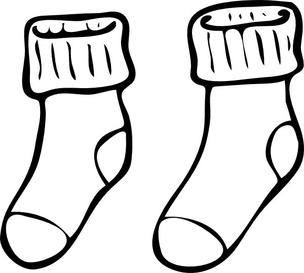 Clipart socks black and white, Clipart socks black and white.