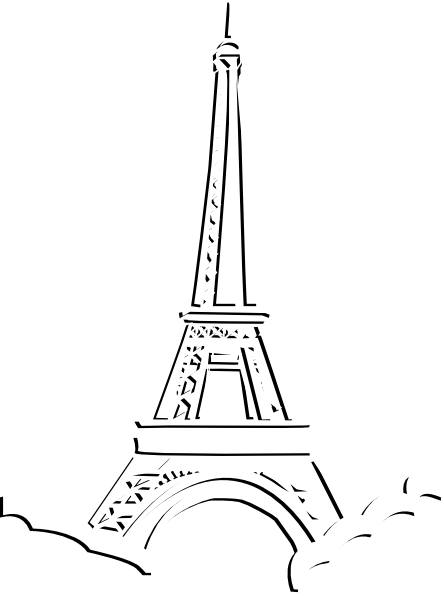 White eiffel tower clipart.