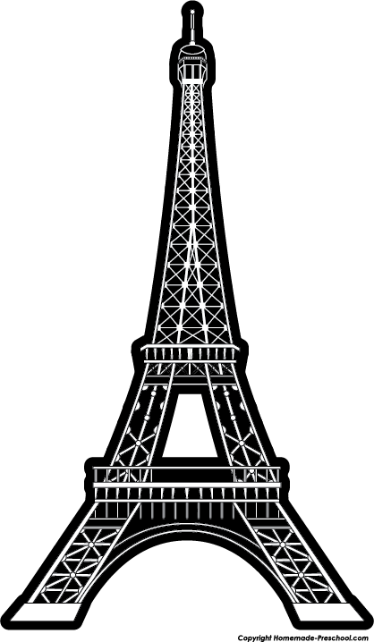 Eiffel tower clip art 6 eiffel tower triple layer clip.