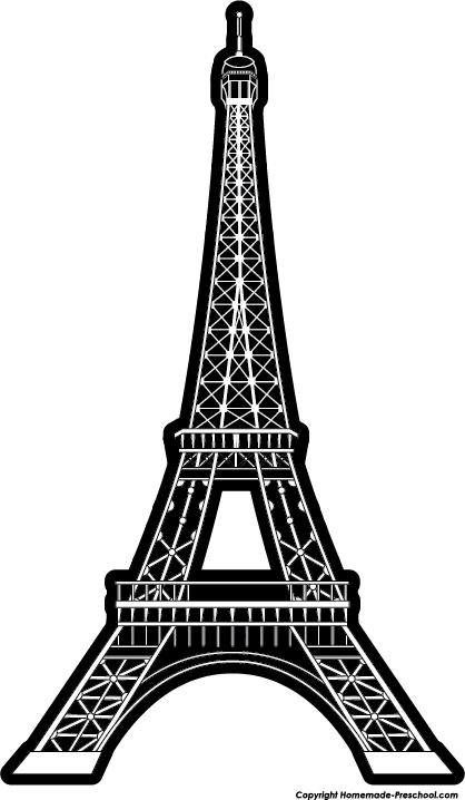 Eiffel tower clip art 6 eiffel tower triple layer clip.