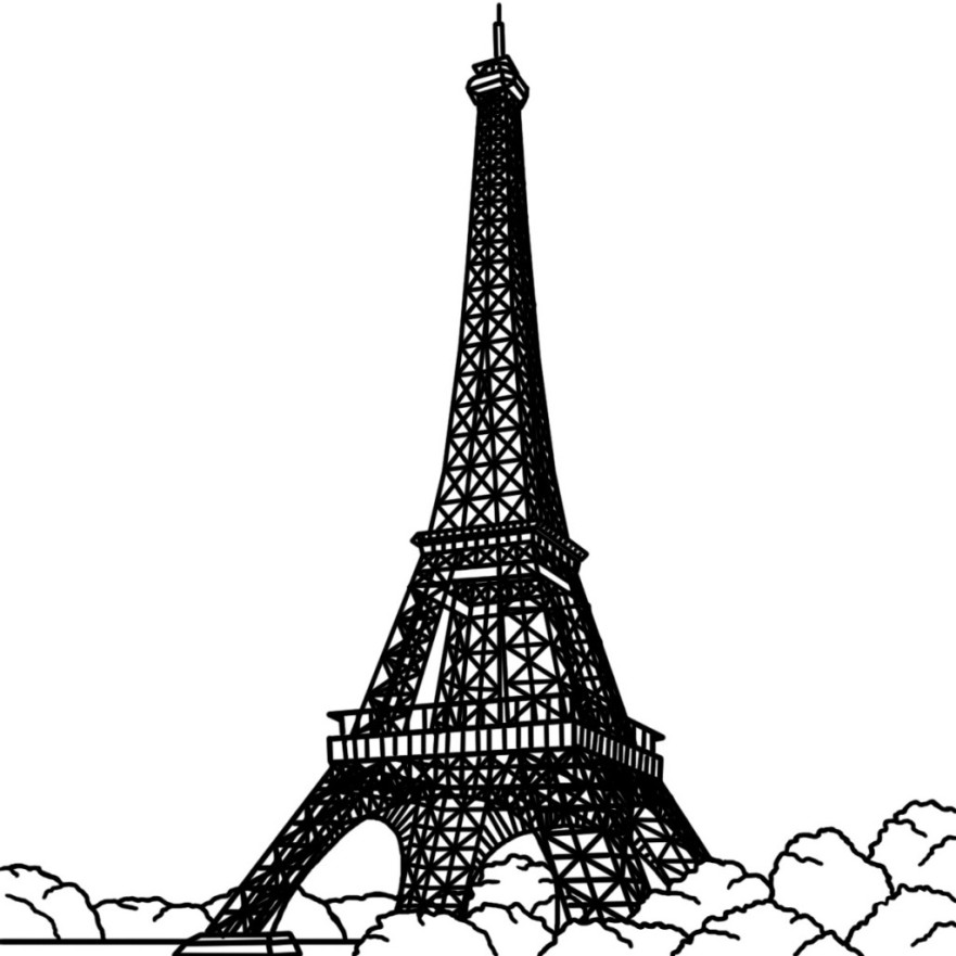 Similiar Eiffel Tower Clip Art Black And White Keywords.