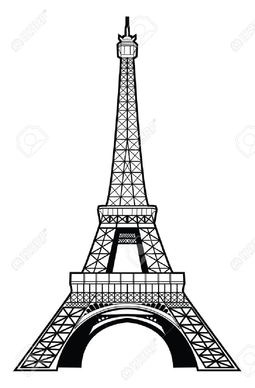 Showing post & media for Cartoon black and white eiffel.