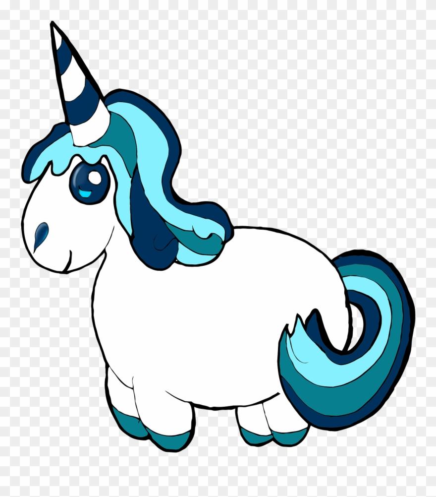 Free Illustration Unicorn Clipart Blue Pony Cute Image.