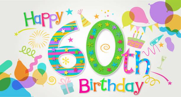 Best 60th Birthday Illustrations, Royalty.