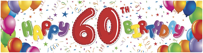 60th Birthday Clipart Images.