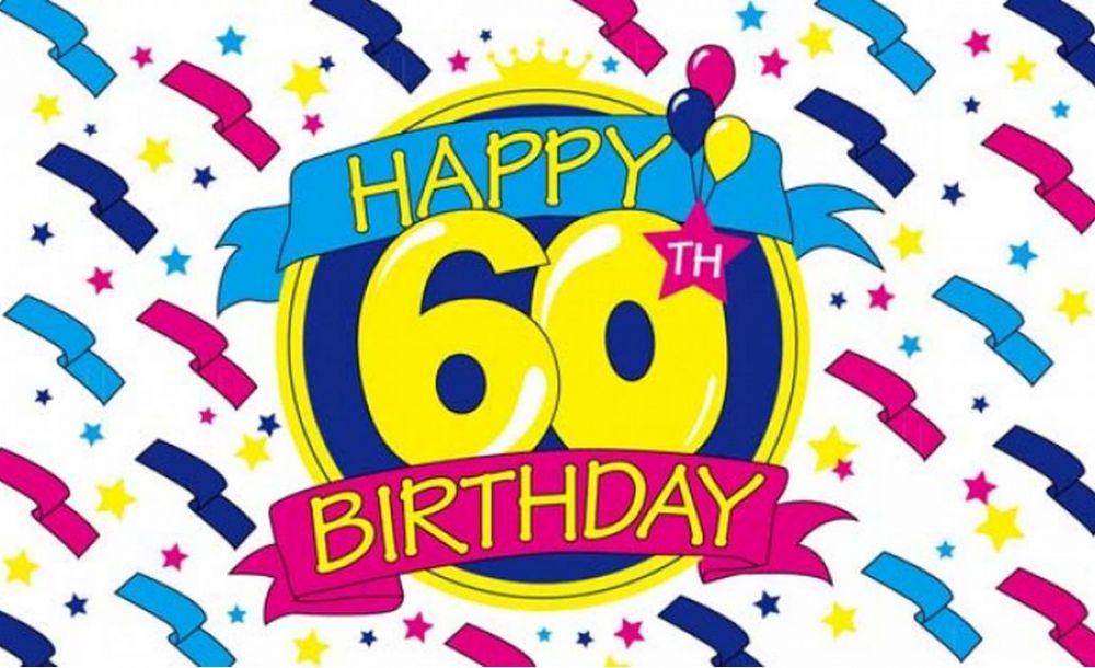 60 birthday clip art.