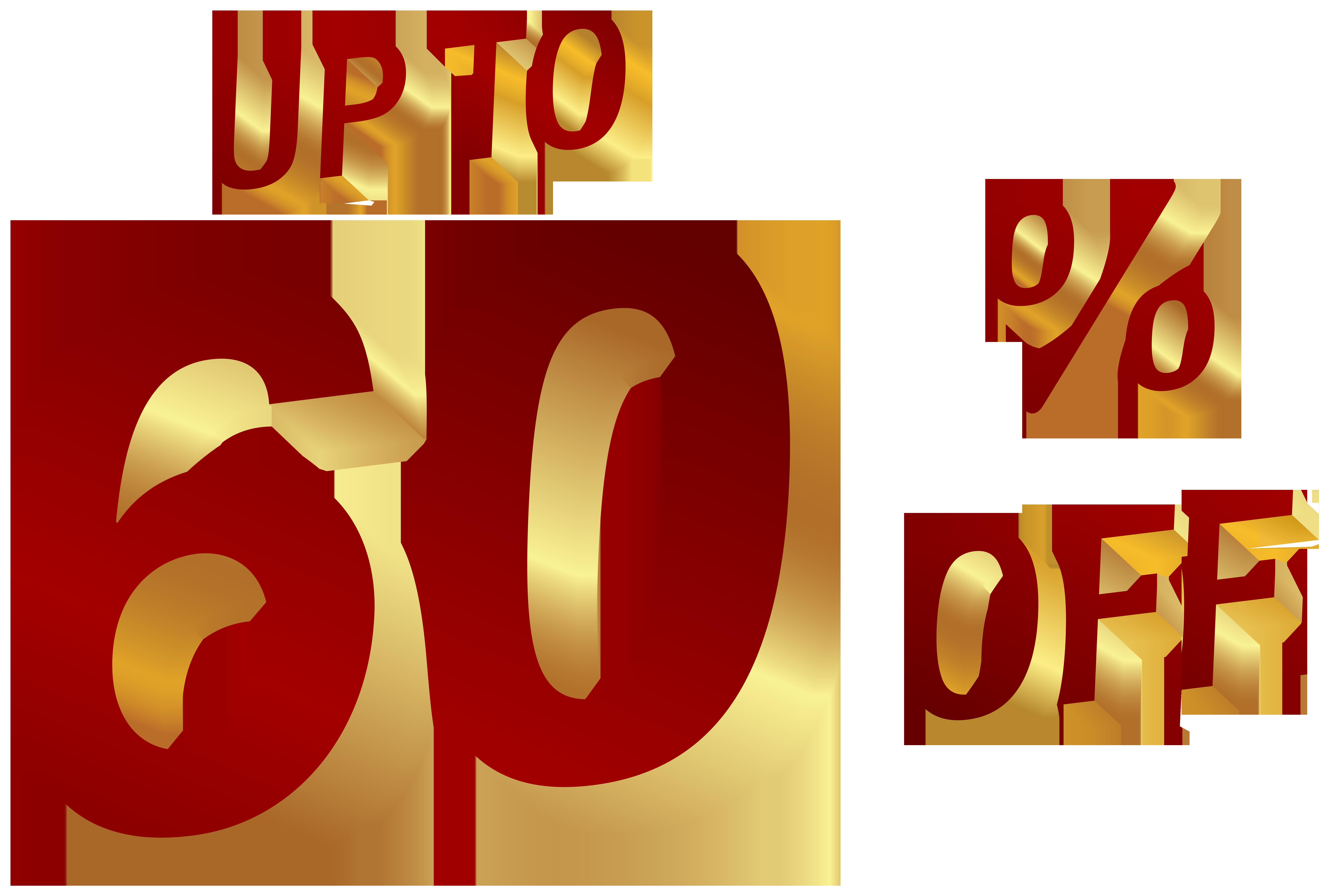 60 Percent Discount Clip Art Image.
