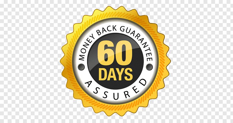 60 days advertisement, 60 Days Money Back Guarantee free png.