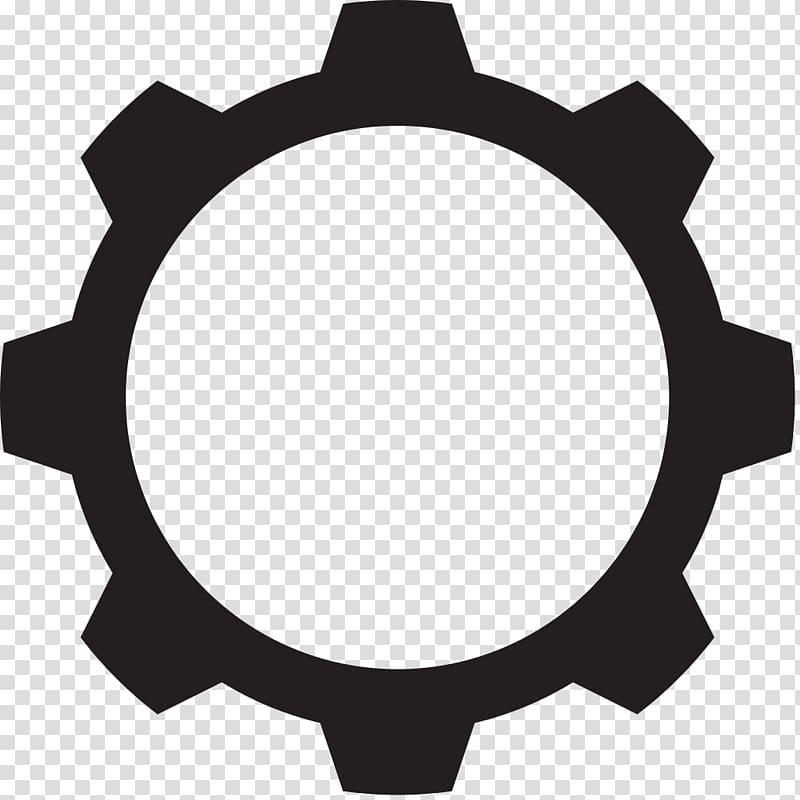 Black gear art, Gear Computer Icons , gears transparent.
