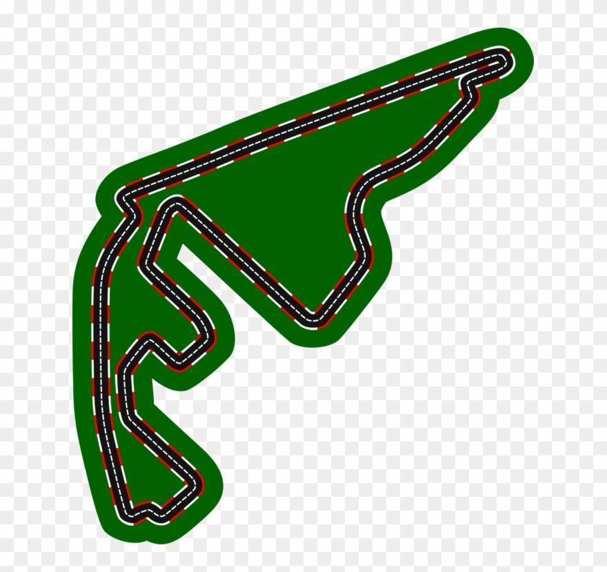 Yas Marina Circuit Formula 1 Auto Racing Race Track.