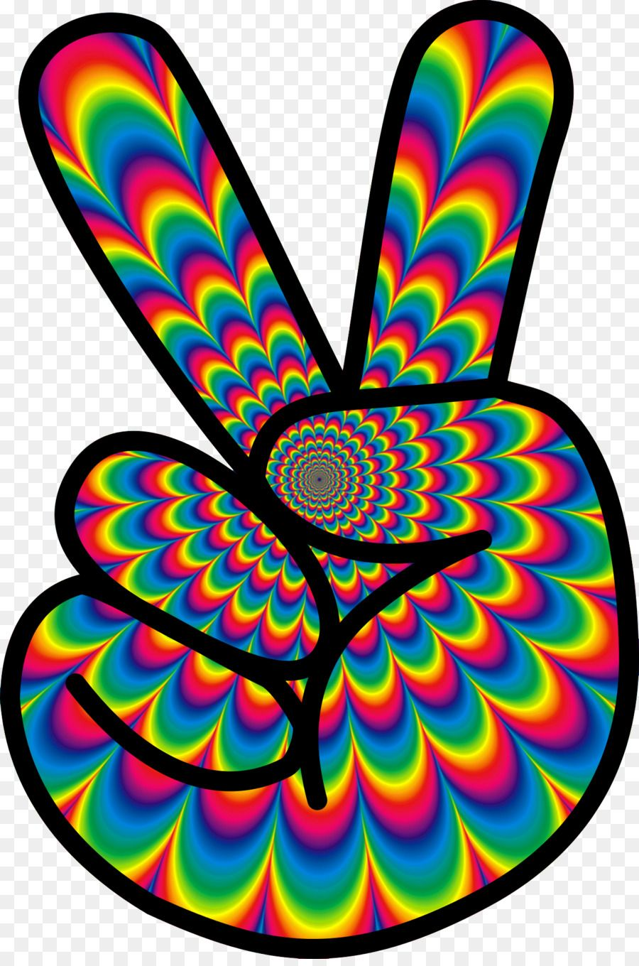 1960s Hippie Flower power Clip art.