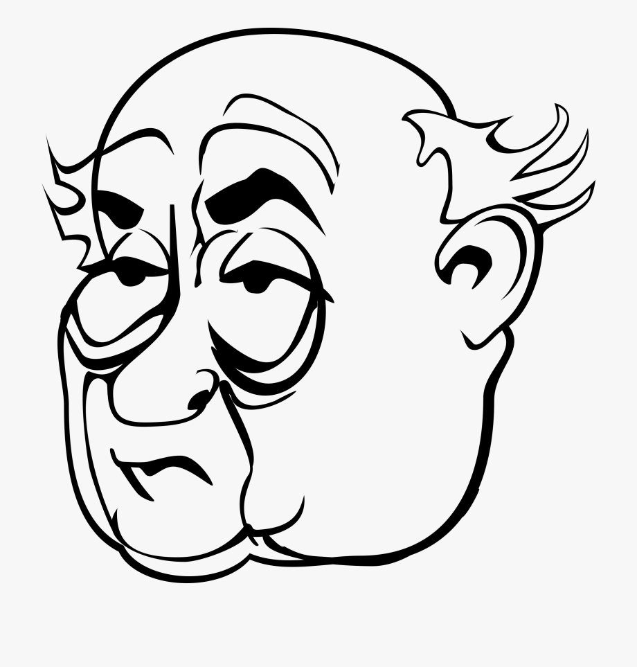 Old Man Face Clip Art.