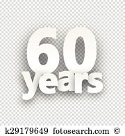 Over 60 years Clipart and Illustration. 112 over 60 years clip art.