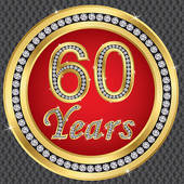 60 Years Celebration Clip Art.