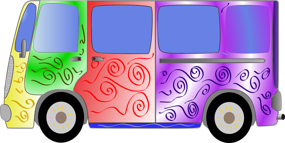 Free vector graphic: Hippy, Van, Bus, 60S, Sixties.