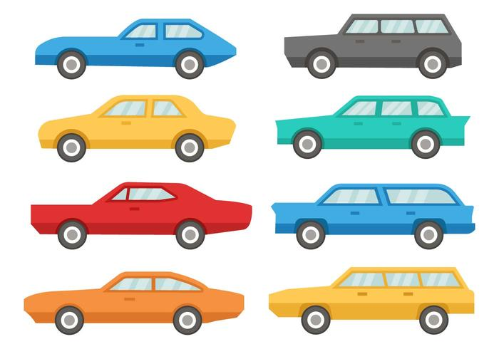 Car 60\'s Icons Vector.