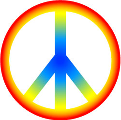60s Peace Sign Clipart.