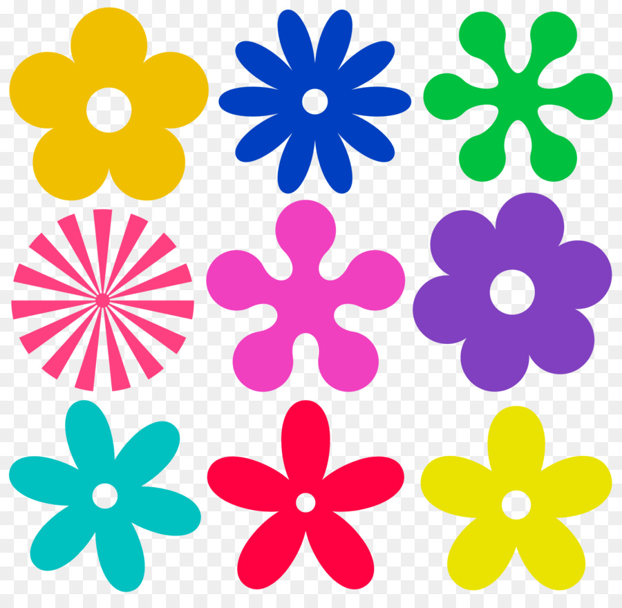 Download 60s flower png clipart 1960s Clip art.